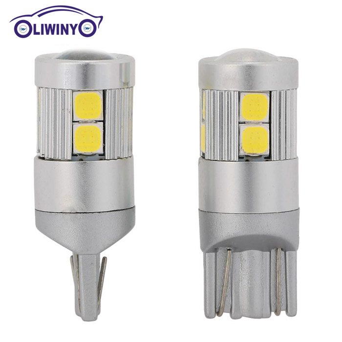 Liwiny T10 9smd 3030 LED Car Light Lamp W5W 194 501 Bulb Wedge Luz Cúpula Auto Car Styling Estacionamento 24 v Candeeiros de Leitura, auto lâmpada