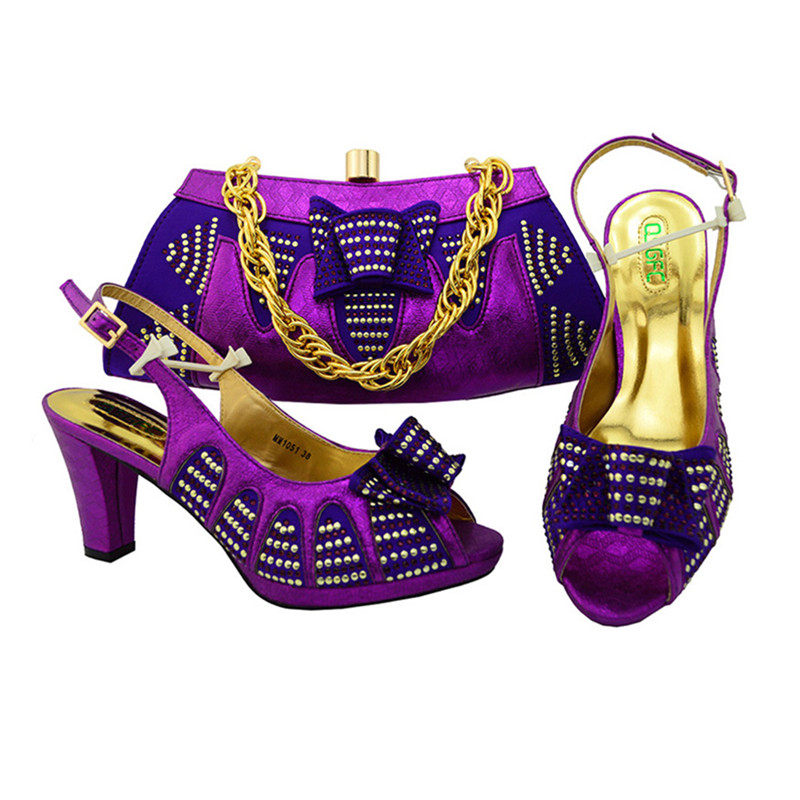 And High Matching Italian Shoes Bags Set Heels Whole African Bag Fashion Apfwhq0q