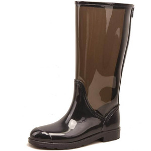 Wellies transparent pu women rain boots
