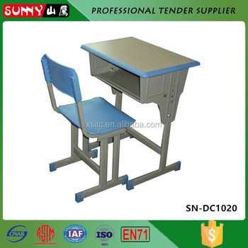 Wooden High School Chairs And Desk With Price