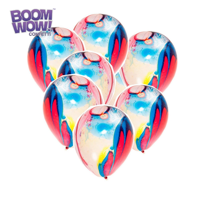 Boomwow Populaire China Festival decoratie groothandel multicolor marmer latex ballonnen