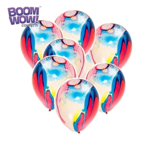 Boomwow Popular China Festival decoration wholesale multicolor marble latex balloons