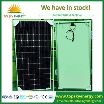 Cheap 335w Monocrystalline Black Frame Solar Panel For