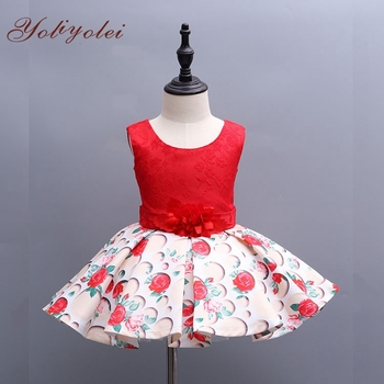Fashion Xmas Baby Kid Frock Design Dress Girl Child Printed Dress