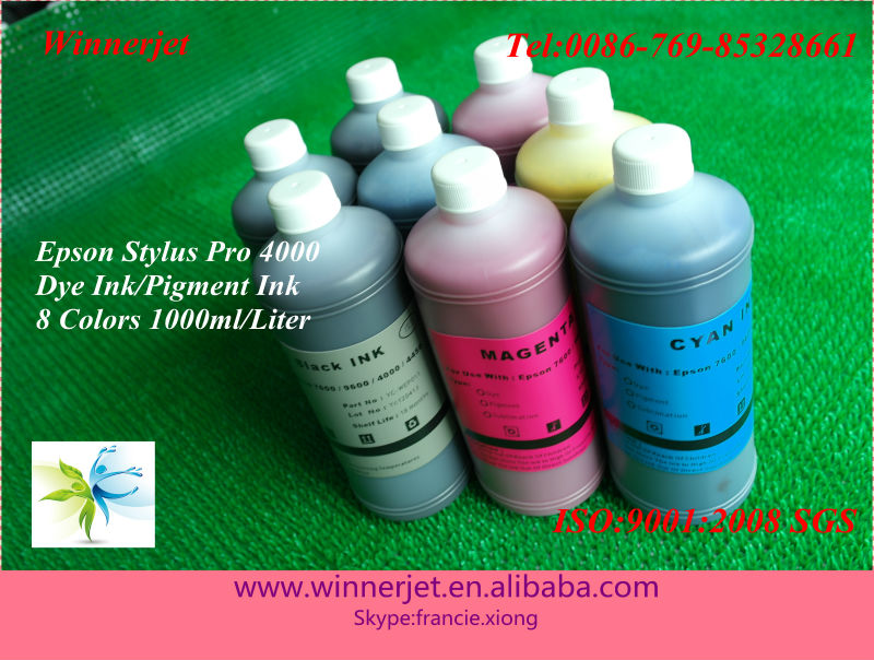 HDY UltraChrome Pigment Refill Inks for Epson Stylus Pro 4000 Printer