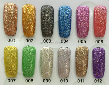 2015 New Shining Glitter Gel Nail Design Soak Off Nail Art Honey