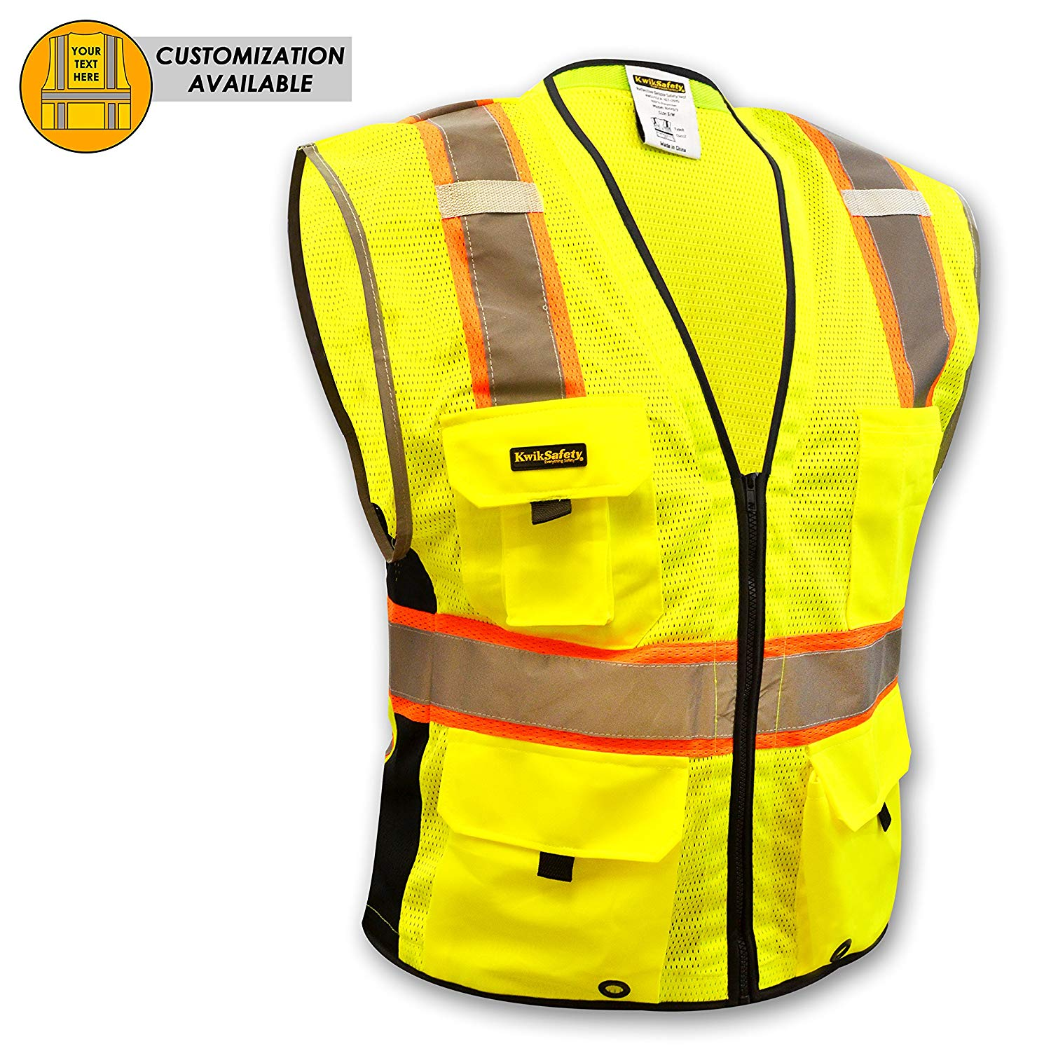 Safety Clothing Security & Protection Hi Vis Two Tone Safety Vest With X On The Back Reflective Waistcoat Breathable Mesh Vest Orders Are Welcome.
