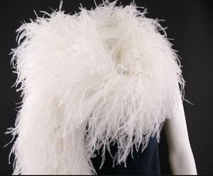 20cm Big Wedding/Party/Festival Feather Butterfly Decorations OSTRICH FEATHER BOA two ply natural ostrich feather boa decoration