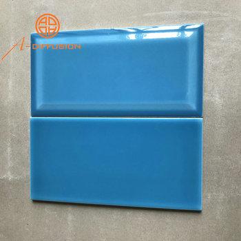 U Bahn Fliesen Badezimmer Blaue Farbe 100x200mm 4x8 Zoll Buy Bad