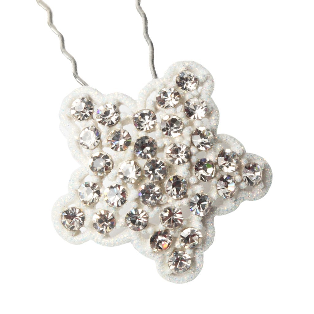 Dovewill 2 Pieces Crystal Star U-shaped Bobby Pin Hair Clips Hairpin Barrette Hair Styling Tools Accessories