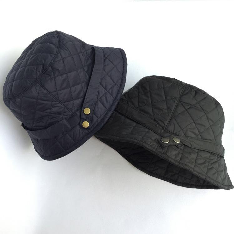 43156dba08ba4 Forro de algodón plegable impermeable acolchado lluvia sombrero ajustable  invierno del sombrero del cubo mujeres