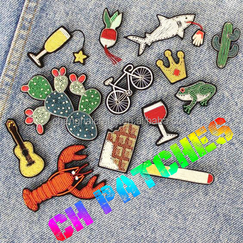 Custom Embroidered Patches Clothing Patches Iron On Embroidery Patch