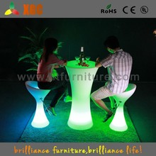 glowing led light bar table multitouch interactive round bar table
