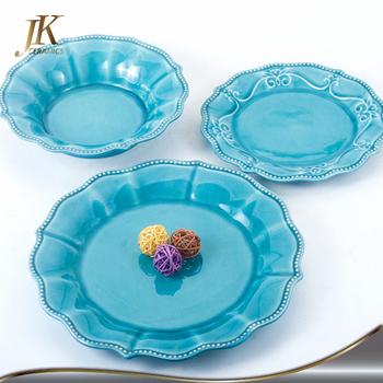 Wholesale ceramic dinner plates blue brilliant flower dinnerware sets stoneware tableware sets  sc 1 th 225 & Wholesale Ceramic Dinner Plates Blue Brilliant Flower Dinnerware ...