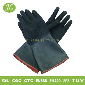 CE and ISO rubber industiral work sun brand gloves