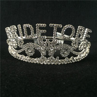 Metal Bride To Be Wedding Party Tiara Crown