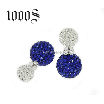 Crystal 2 way tribale stud earring wholesale
