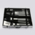 10 Piece Stainless Steel BBQ Barbecue Grill Tool Set with Aluminium Case