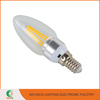 High Power C35 360 Degree 4W E14 E12 Led Filament Candle Bulb Light