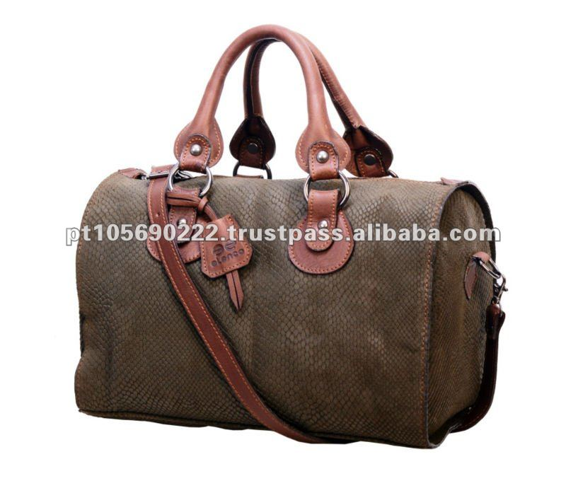 Handbag leather suede pyton 777