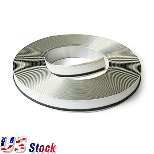 "USA Stock - 2 Roll White Color Aluminum Trim Cap with PC & Foam (Channelume), 110mm (4.3"") x 50m (164 feet), Aluminum Trim Cap for Channel Letters Making"
