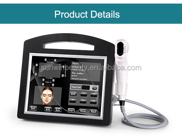 Portable 4d 3d Hifu with 5 cartridges 11 lines body and face lifting skin tightening wrinkle removal body contouring machine