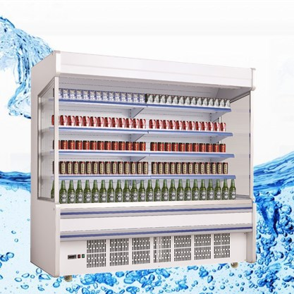 New design supermarket open chiller/fan cooling drinks showcase /best refrigerator brand