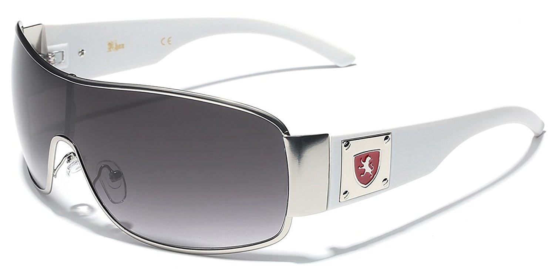 2af2c825092 Get Quotations · Khan Men s Retro Fashion Shield Lens Aviator Sunglasses