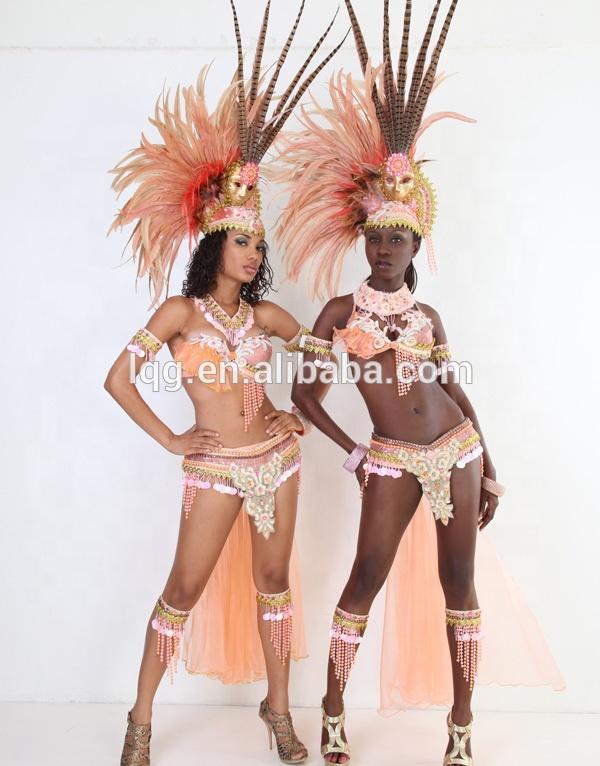 新しいスタイルのセクシーなラインストーントリニダード・トバゴサンバ羽根女性のためのカーニバル衣装