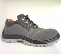steel toecap suede leather safety footwear anti-static