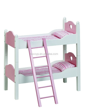 Wooden Doll 2 Single Beds Bunk Bed Bedding Fits American Girl 18