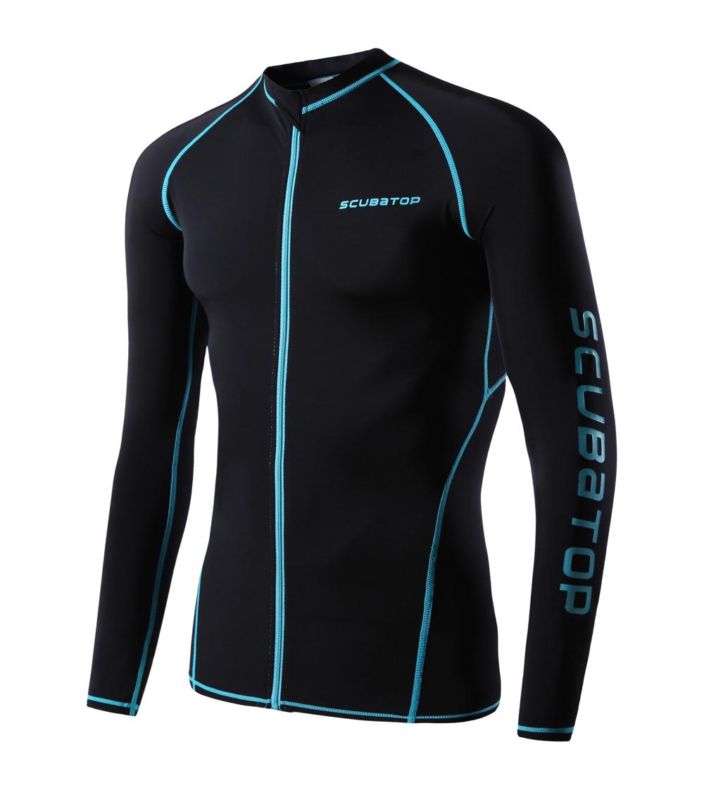 ae398ac373083 swimming suit surf rash guard men long sleeve wetsuit lycra dive skins rash  guard sailing clothing scuba diving suit