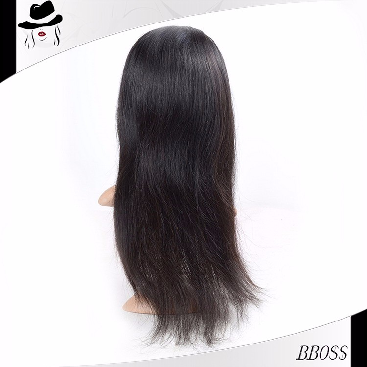 High and super quality virgin unprocessed full silk top cap lace wig,100% indian human hair wig