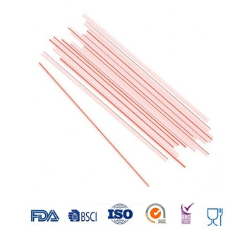 Wholesale Red And White Striped Disposable Plastic Straws