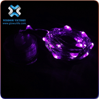 christmas battery operated waterproof 20 micro led uv black light submersible string light