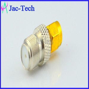 Adapter coaxial connector SMA male to F female adapter
