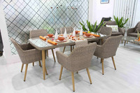 outdoor garden rattan table and chair /wicker furniture dinning set