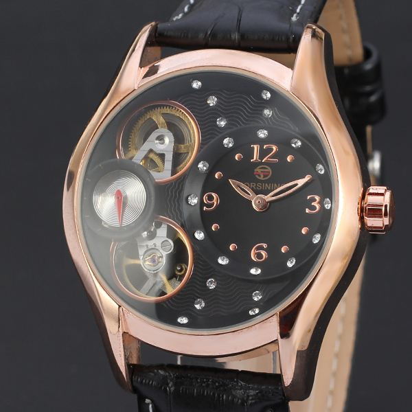 FORSINING 011 Forsining imported women watches ,double movt inside machinery no battery automatic watch kol saatleri for ladies фото