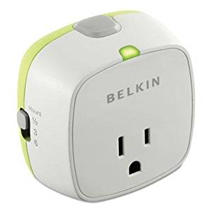 """Belkin - 2 Pack - Automatic Surge Protector With Timer 1 Outlet 1080 Joules White """"Product Category: Cables Adapters & Power Products/Office Equipment Power Products"""""""