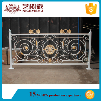 Alibaba Beautiful Customized Popular New Design Balcony Steel Grill