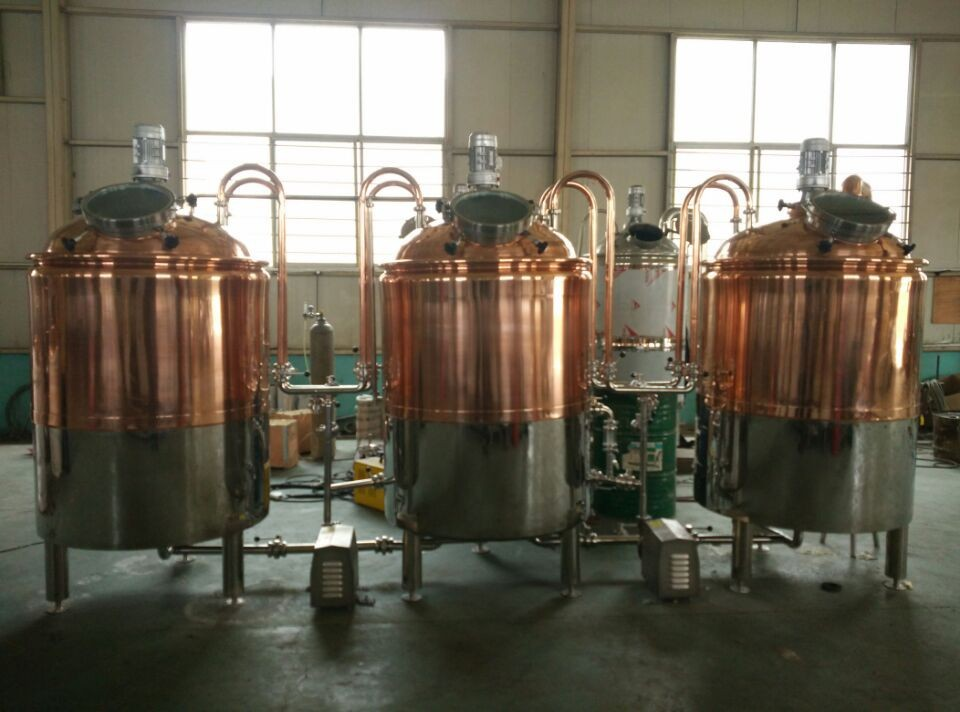 red copper beer brewing equipment
