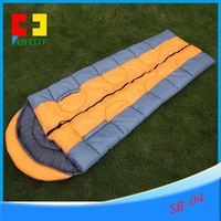 Camping / outdoor Camo down sleeping bag feather silk banana sleeping bag