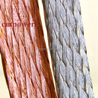 Electrical Flat Braided Copper Bar Ground Strap Wire Copper Braid Products