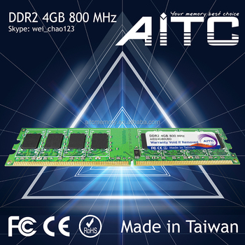 Bset supported Professional AITC 800mhz memory ddr2 4gb for desktop ddr 2 ram