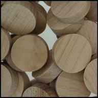 """WIDGETCO 3/4"""" Maple Wood Plugs, Face Grain"""