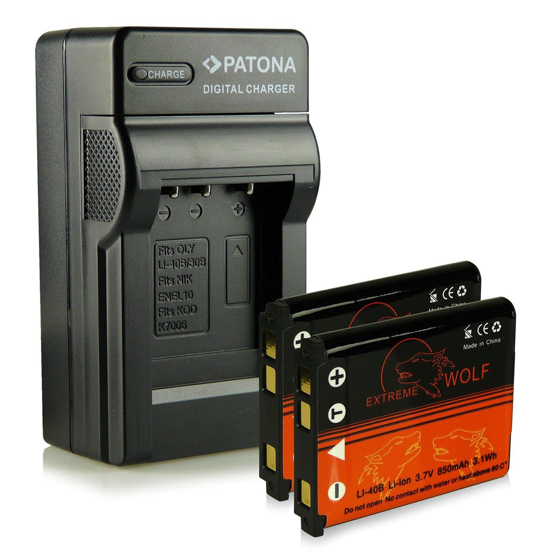 Bundle - Charger + 2x Battery with Infochip · 100% compatible with Olympus Li-40B   Li-42B / Nikon EN-EL10 / Fuji NP-45 / Pentax D-Li63 / Kodak Klic-7006 / Casio NP-80 Fuji FinePix J10   J15   J100   J110w   J150w   Z10fd   Z20fd   Z100   Z100fd   Z200fd   Kodak EasyShare M883   M873   Nikon S200  