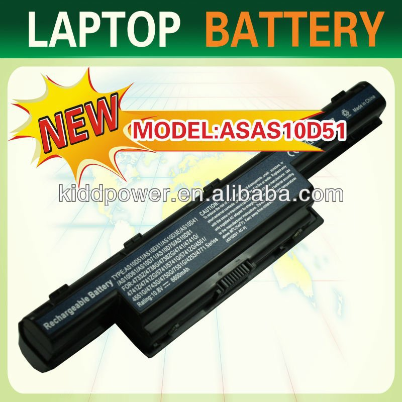 OEM Laptop Battery 4551 4741 47455 5741 5742 9 cells replacement for AS10D41 AS10D31 AS10D3E AS10D61