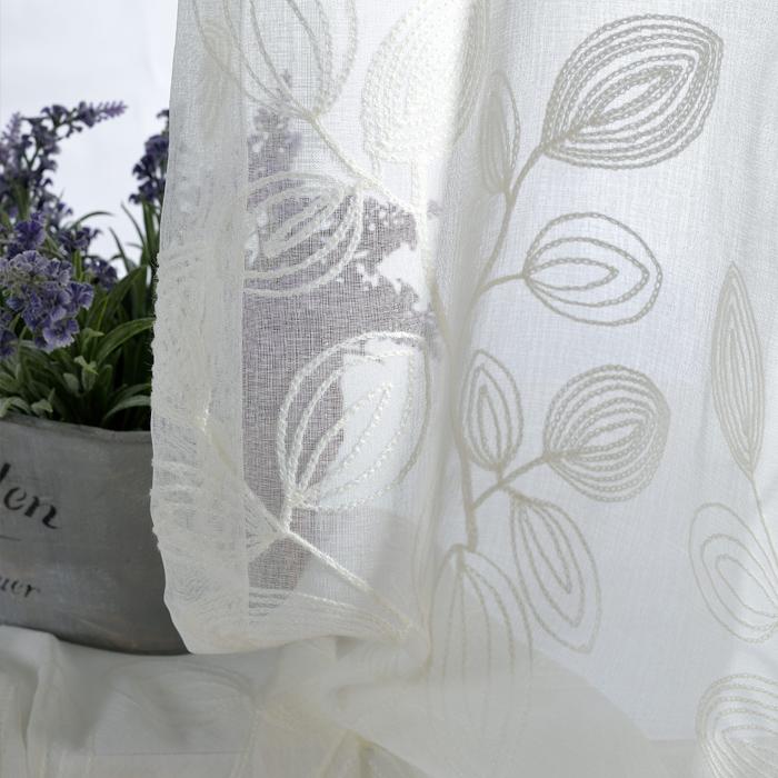 hoch klasse bestickte gardinen baumwolle pastoralen schlafzimmer gardinen ma geschneiderte gaze. Black Bedroom Furniture Sets. Home Design Ideas