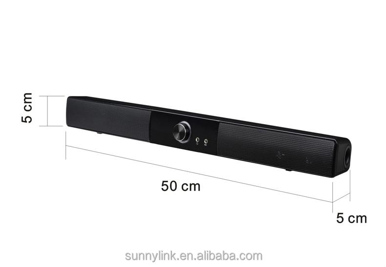 10 w mini usb barre de son haut parleur pour petite taille lcd tv hifi haut parleur avec basse. Black Bedroom Furniture Sets. Home Design Ideas
