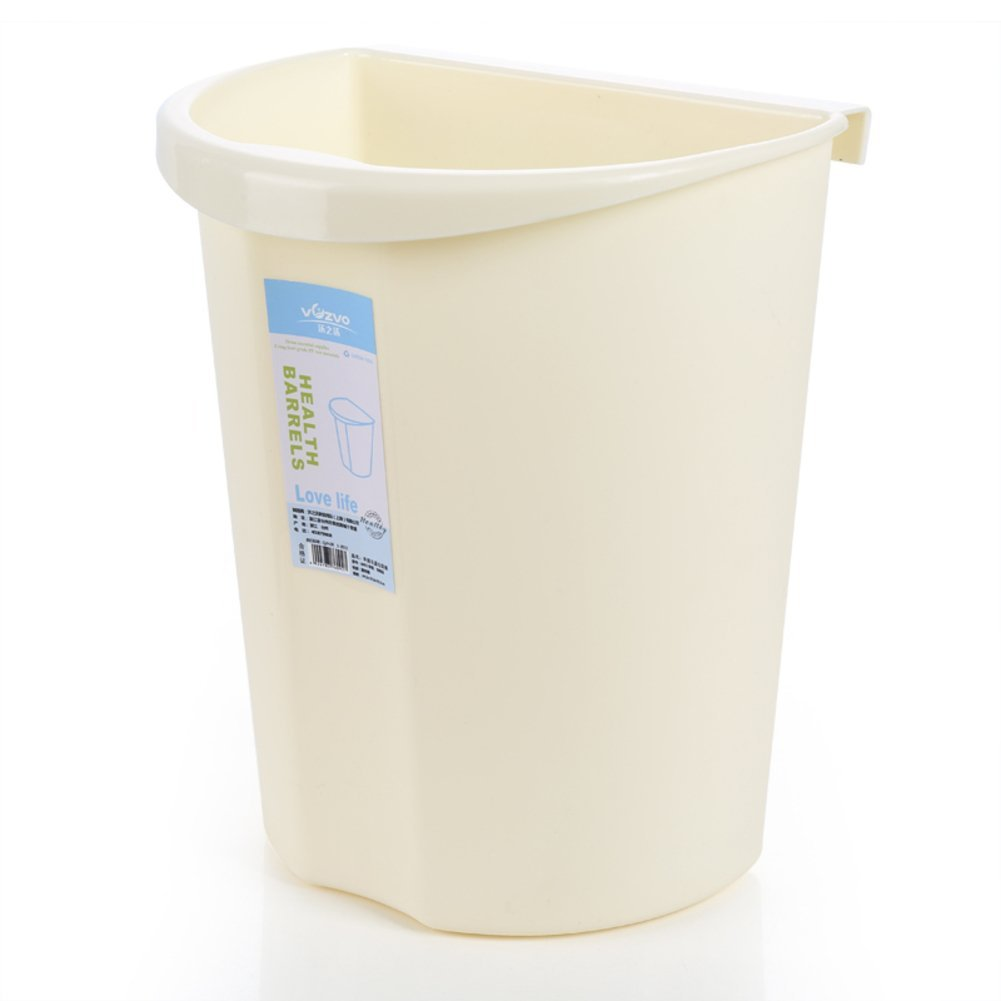 Wall-mounted Kitchen waste bins Cabinet hanging organizer Small wastebasket Trash can in home & kitchen Waste bins for bathrooms-plastic-B